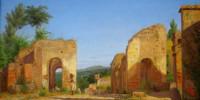 Gateway In The Via Sepulcralis In Pompeii. Christen Kobke, 1846