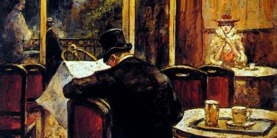 Abend Im Cafè Bauer di Lesser Ury. 1898