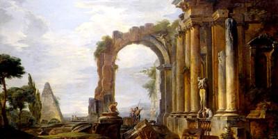Capriccio Of Classical Ruins. Giovanni Paolo Panini, 1730