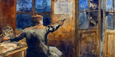 The Spy di Nicolae Vermont (1866-1932), olio su tela