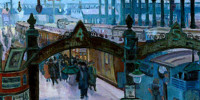 Liverpool Street Station in the Twenties. Marjorie Sherlock (1897–1973). National Railway Museum