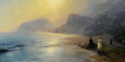 Ivan Aivazovsky. Pushkin And Countess Raevskaya By The Sea Near Gurzuf And Partenit, 1886