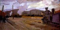 The railroad station at Argenteuil. Claude Monet (1840-1926)