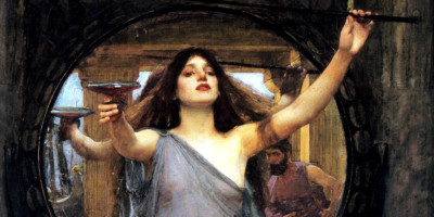 Circe offering the cup to Ulysses (1891). John William Waterhouse (1849-1917)
