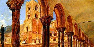 A View Of Monreale, Above Palermo. Rudolf von Alt