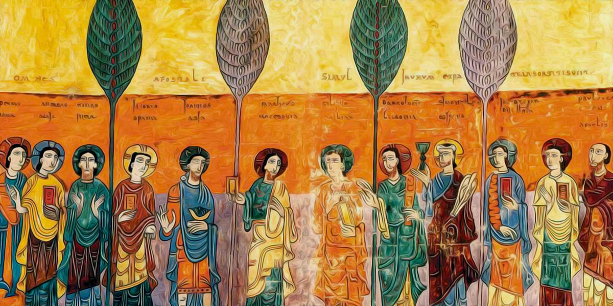 Prologue. On The Church. Portraits Of The Apostoles Stating Where They Preached Ende (975)
