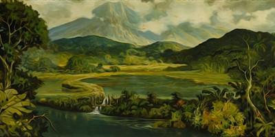 Indonesian Landscape. Abdullah Suriosubroto