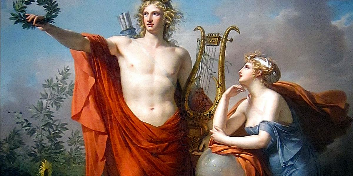 Apollo e Urania, opera di Charles Meynier