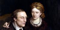 Henry Fawcett; Dame Millicent Garrett Fawcett (née Garrett), by Ford Madox Brown