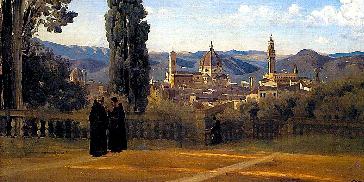 Florence, The Boboli Gardens. Camille Corot