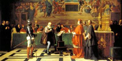 Galileo di fronte al Sant'Uffizio, dipinto di Joseph-Nicolas Robert-Fleury (1797-1890)