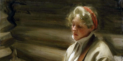 Girl knitting (1901). Anders Zorn