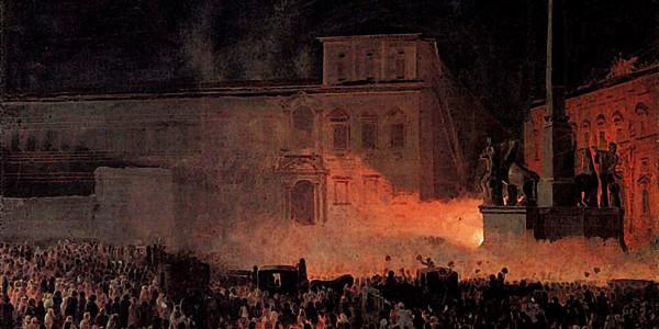 Political Demonstration in Rome in 1846. Karl Bryullov