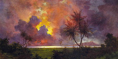 Sunrise Over Diamond Head. Jules Tavernier. Oil on canvas, 1888, Honolulu Academy of Arts