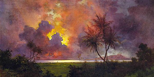 Sunrise Over Diamond Head. Jules Tavernier. Oil on canvas, 1888, Honolulu Academy of Arts