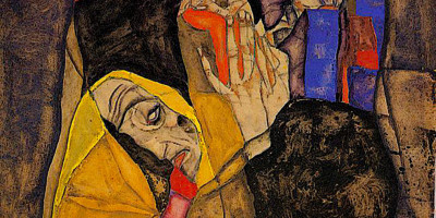 The Blind, 1913. Egon Schiele