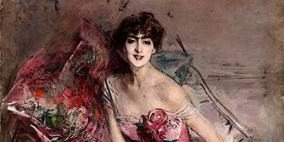 La signora in rosa (Ritratto di Olivia de Subercaseaux Concha). Giovanni Boldini