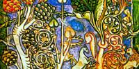 Codex Buranus: Decorazione con alberi e animali
