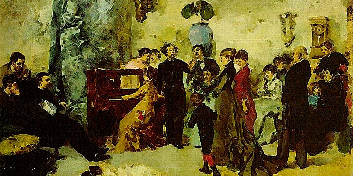 Party (1880). Columbano Bordalo Pinheiro