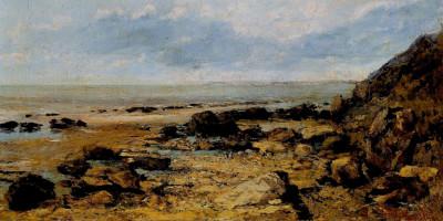 Rocky Seashore. Gustave Courbet