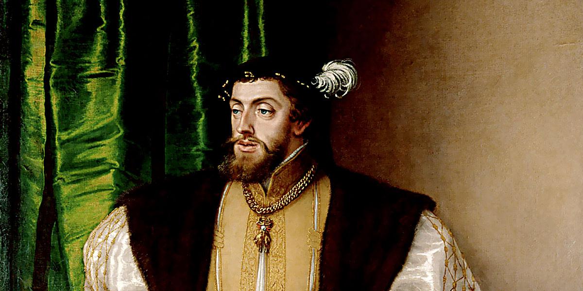 Carlo V d'Asburgo. Ritratto eseguito da Jakob Seisenegger (1532)