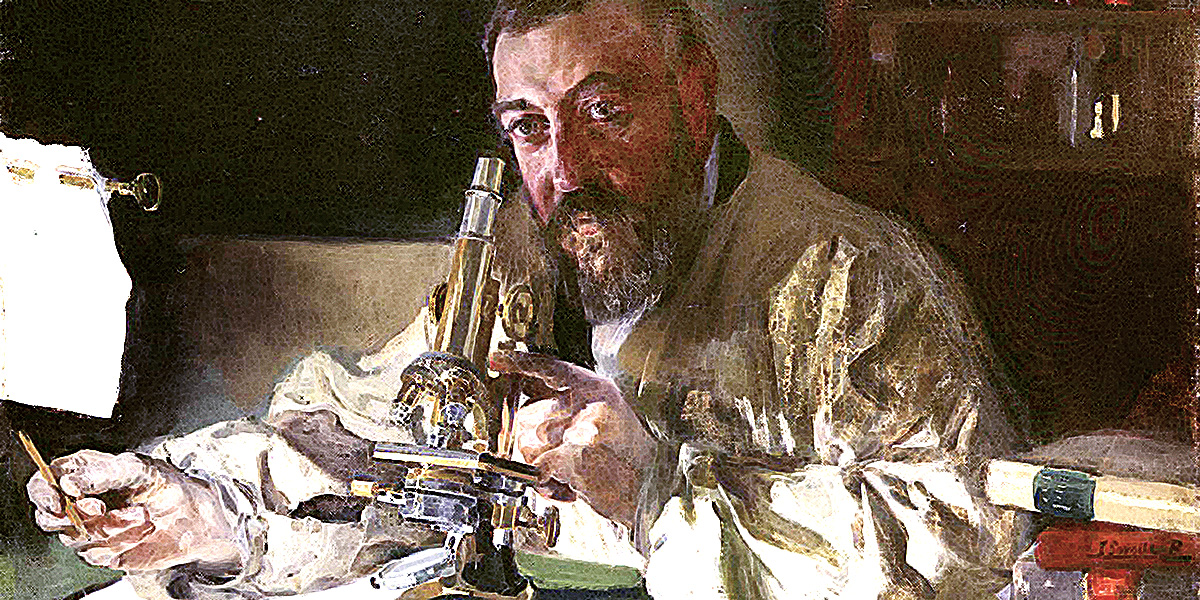 Portrait of Dr. Simarro at the microscope. JoaquÌn Sorolla y Bastida (1863-1923)