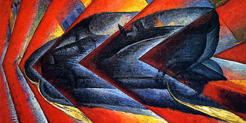Luigi Russolo: Dinamismo di un'automobile 1912-13, Parigi, Musèe National d'Art Moderne