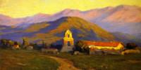 Sunrise, Mission at Pala near San Luis Rey. Benjamin Brown