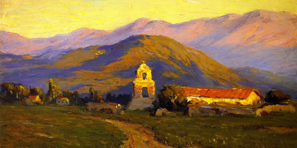 Sunrise, Mission at Pala near San Luis Rey. Benjamin Brown