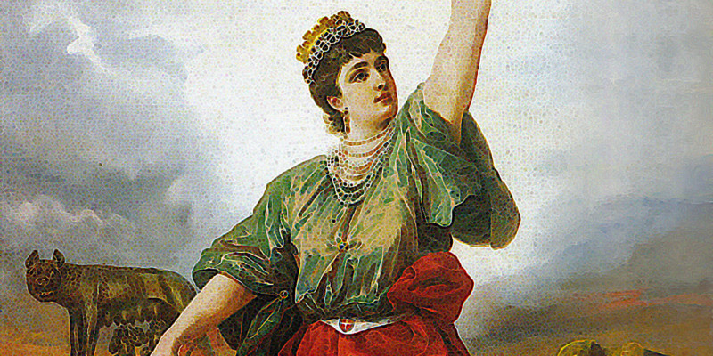 Antonio Muzzi (Bologna 1815 Bologna 1894), Allegoria dell'Italia Unita, 1888 - Bologna, Pinacoteca Nazionale