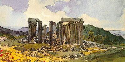 Temple of Apollo in Phigalia. Karl Bryullov