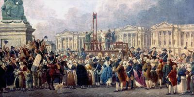 Illustration d'une exécution capitale, place de la Révolution
