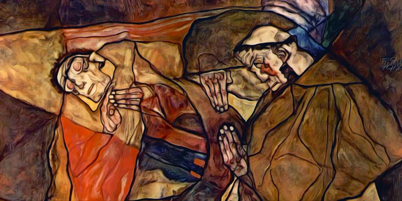 Agony. Egon Schiele