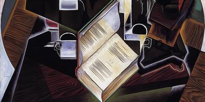 Book, Pipe and Glasses. Juan Gris