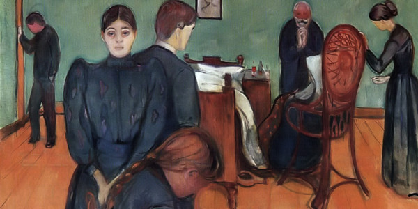 Death in the sickroom. Edvard Munch