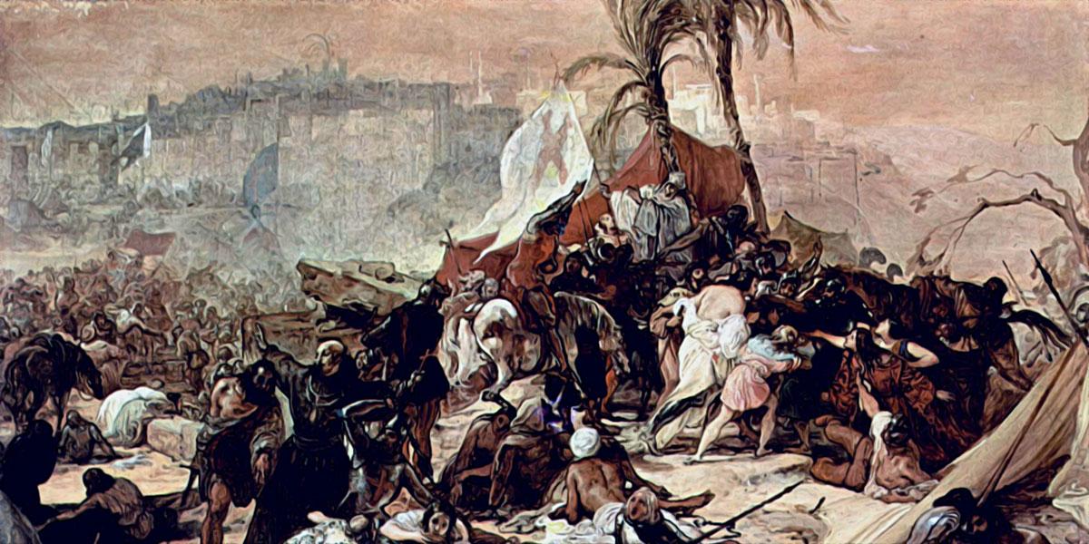 La settima crociata contro Gerusalemme di Francesco Hayez