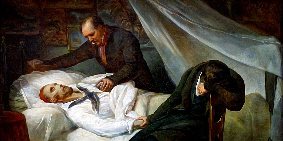 La Mort de Géricault (1824). Ary Scheffer (1795–1858)
