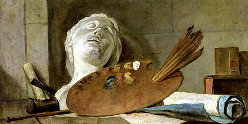 The Attributes of Painting and Sculpture. Jean-Baptiste-Simeon Chardin