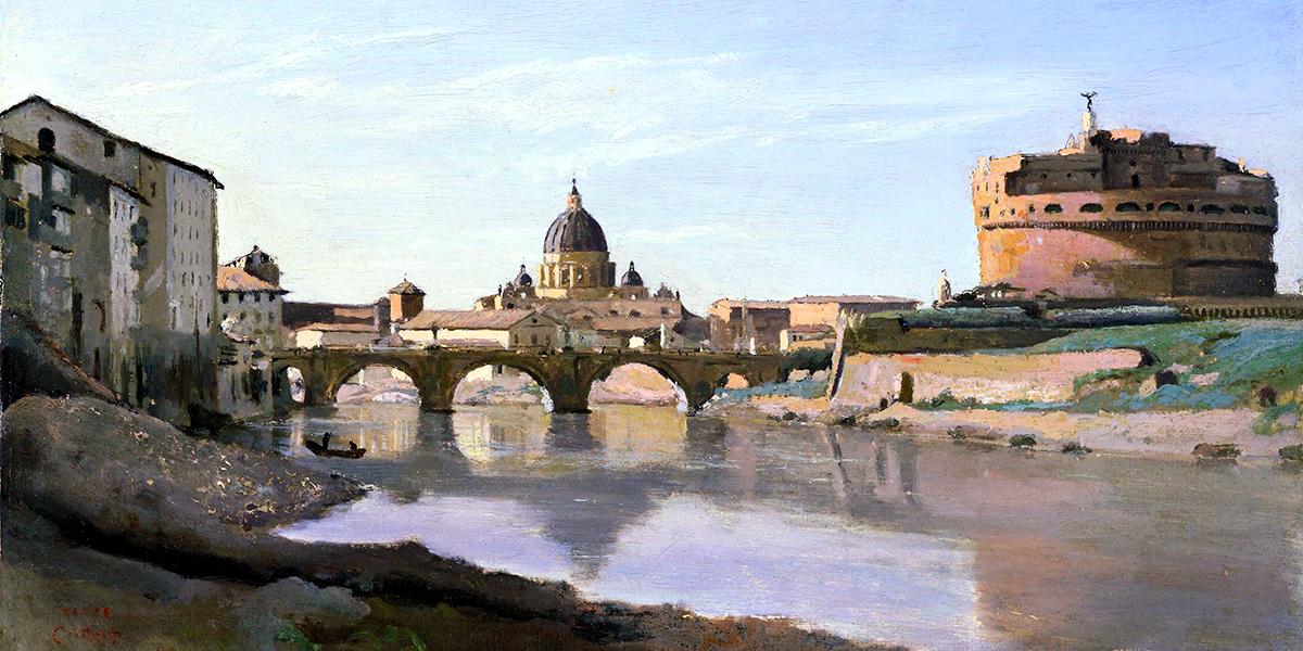 Roma, Castel Sant'Angelo. Camille Corot