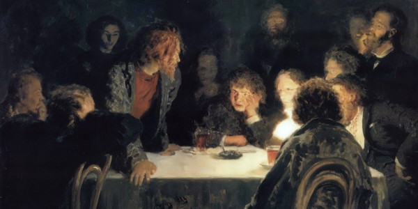 The Revolutionary Meeting. Ilya Repin