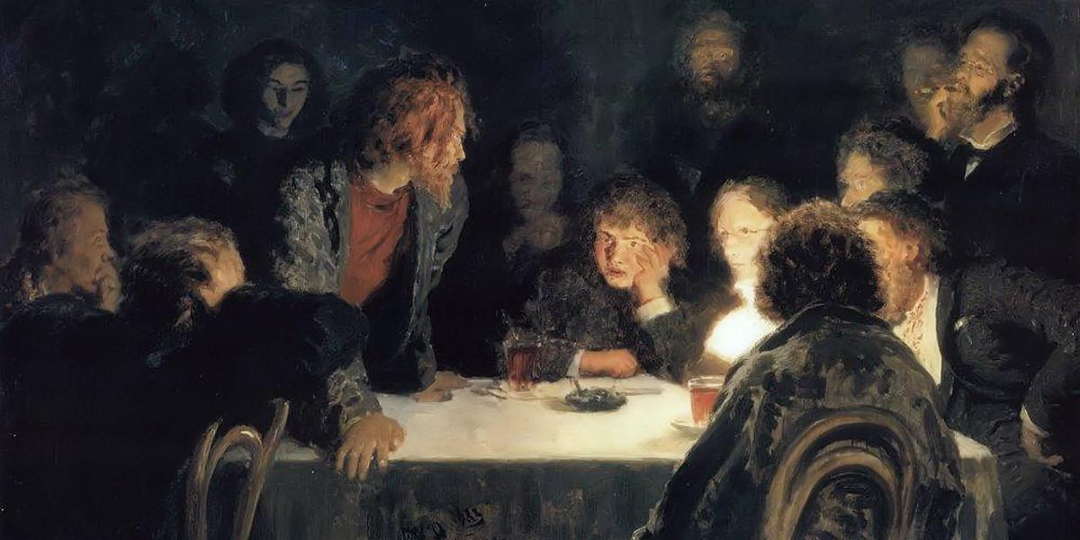 The Revolutionary Meeting. Ilya Repin