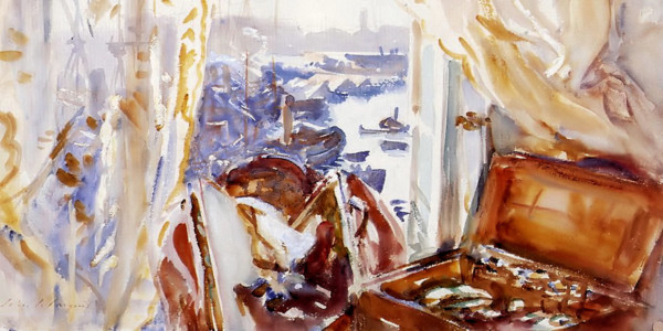 View from a Window, Genoa. John Singer Sargent