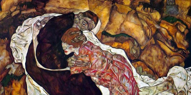 Death and the Maiden. Egon Schiele
