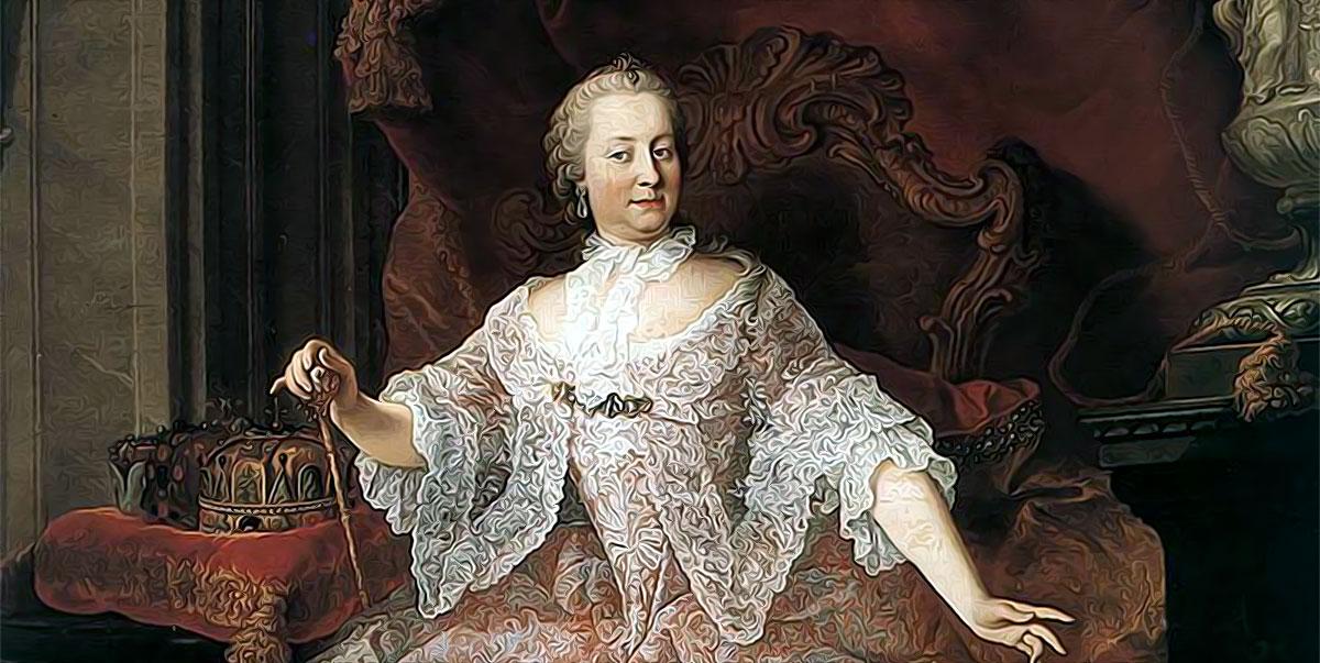L'imperatrice Maria Teresa in un dipinto di Martin van Meytens, prima metà del XVIII secolo