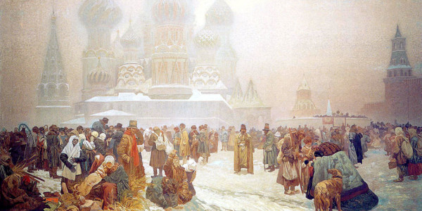 The Abolition of Serfdom in Russia. Alphonse Mucha