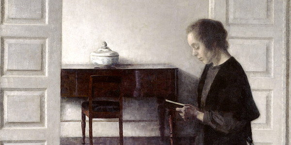 Interior with a Reading Lady. Vilhelm Hammershoi