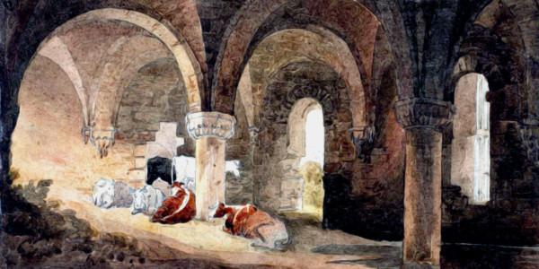 Crypt of Kirkstall Abbey (after J.M.W. Turner). David Cox