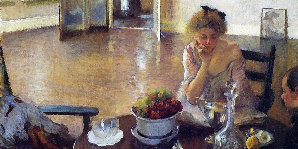 The Breakfast Room. Edmund Charles Tarbell