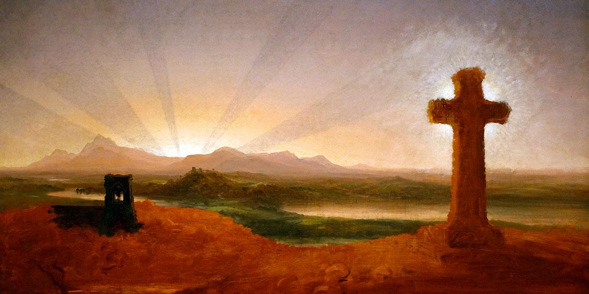 Cross at Sunset. Thomas Cole