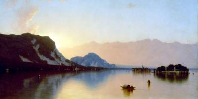 """""""Isola Bella In Lago Maggiore"""" di Sanford Robinson Gifford"""